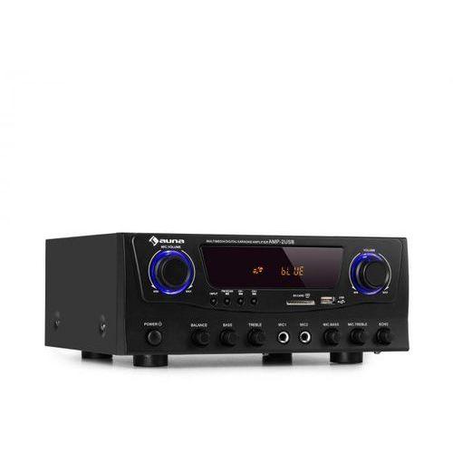 Auna amp-2 bt, wzmacniacz hifi, 2 x 50 w, bt, usb, sd, 2 x wejście mikrofonowe, tuner radiowy fm, czarny