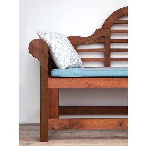 Beliani Ławka ogrodowa drewniana 180cm poducha jasnoniebieska toscana marlboro (7105277163120)