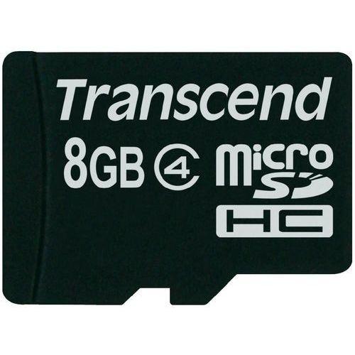 Karta pamięci microsdhc  ts8gusdc4, 8 gb, class 4, 20 mb/s / 5 mb/s marki Transcend