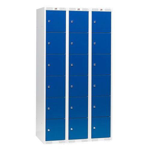 Szafki osobiste 3 sekcje po 6 skrytek w pionie Kolor drzwi: Niebieski z kategorii szafy i witryny