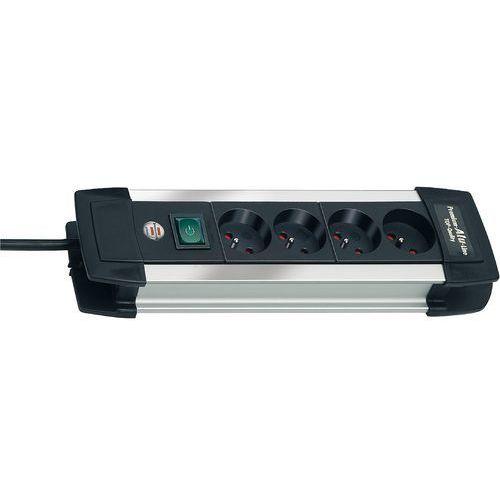 Brennenstuhl Listwa premium-alu-line 4 gniazda (1.8m) czarna (4007123149957)