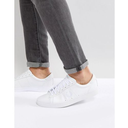 spencer leather trainers in white - white, Fred perry