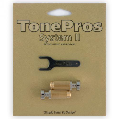 TonePros SNS1-N - Locking Studs, części mostka do gitary, niklowane