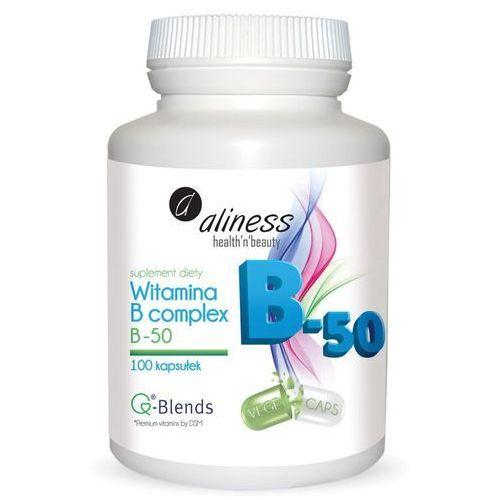 Witamina B complex B-50 – B6, B12, kwas foliowy - 100 kapsułek – Aliness (Witaminy i minerały)