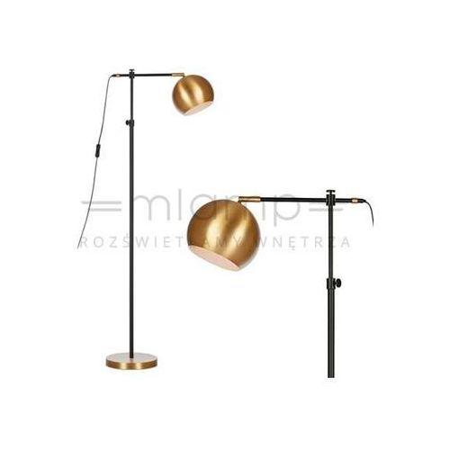 Markslojd Stojąca lampa podłogowa chester 107231 metalowa oprawa kula ball brąz