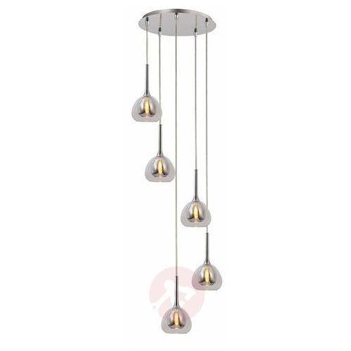 Brilliant Hadan przydymiony 5xe14 lampa wisząca 85575/20 (4004353360923)