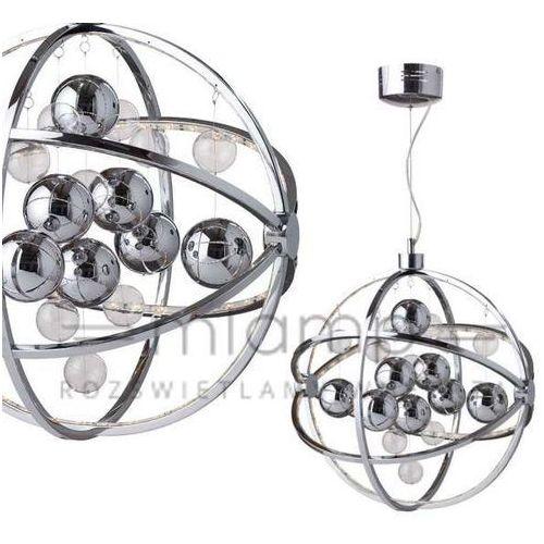 Lampa wisząca globe 105459 dekoracyjna oprawa led 9,2w metalowy zwis kula ball chrom marki Markslojd