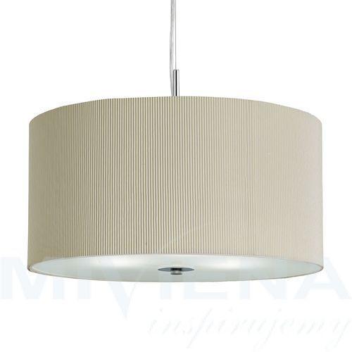 Searchlight Drum pleat lampa wisząca 60 kremowy