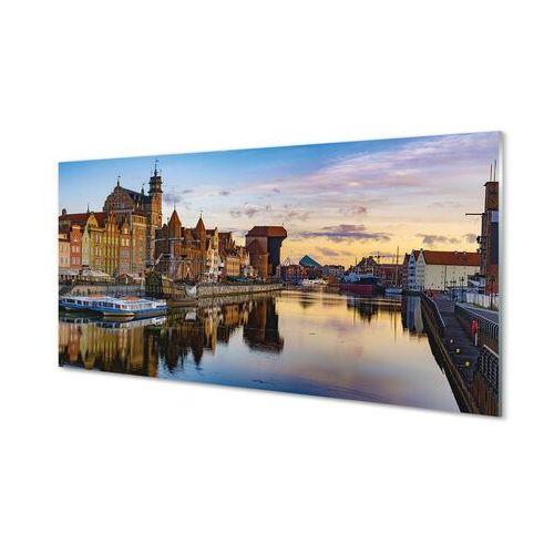 Obrazy akrylowe gdańsk port rzeka wschód słońca marki Tulup.pl