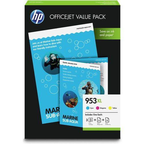 Zestaw tuszy hp 953xl / 1cc21ae cmy do drukarek (oryginalny) marki Hewlett-packard