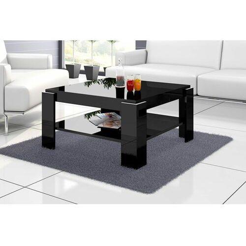 Ława stolik kawowy ELBA 80 cm Czarny połysk, HS-0148