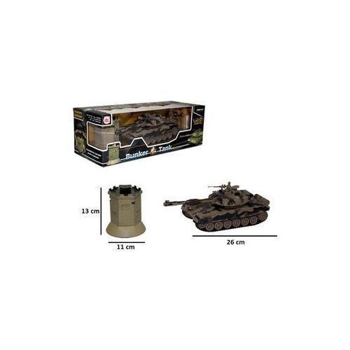 Czołg z bunkrem RC z ładowarką - Brimarex. DARMOWA DOSTAWA DO KIOSKU RUCHU OD 24,99ZŁ