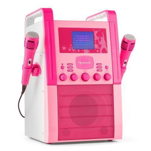ka8p-v2 pk zestaw karaoke odtwarzacz cd aux 2 x mikrofon różowy marki Auna