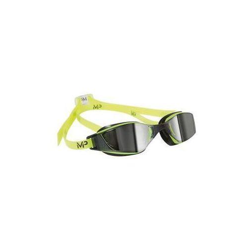 Michael phelps aqua sphere Męskie okulary pływackie xceed mirrored czarne/żółte
