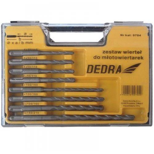 Zestaw wierteł DEDRA 0704 do młotowiertarek (8 elementów)