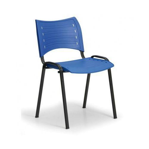 B2b partner Plastikowe krzesła smart - czarne nogi