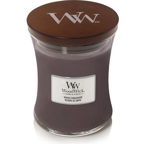 Woodwick Świeca core suede & sandalwood średnia