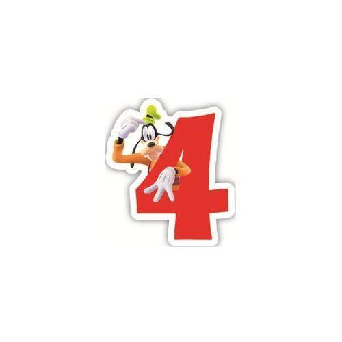 """Świeczka cyferka czwórka """"4"""" myszka mickey - 1 szt. marki Procos disney"""
