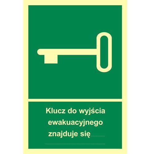 Klucz do wyjścia ewakuacyjnego znajduje się w.....