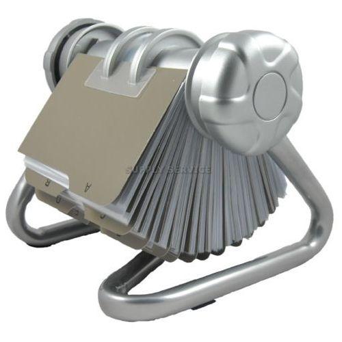 Ok-office Wizytownik obrotowy p1027, srebrny - autoryzowana dystrybucja - szybka dostawa