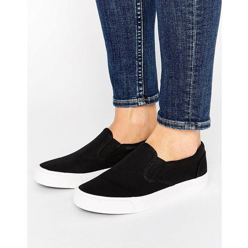 New Look Basic Canvas Trainer - Black