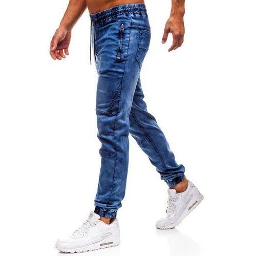 Spodnie jeansowe joggery męskie granatowe Denley Y232, jeans
