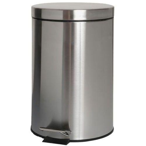 Kosz na śmieci 12 litrów Bisk stal matowa, 00431