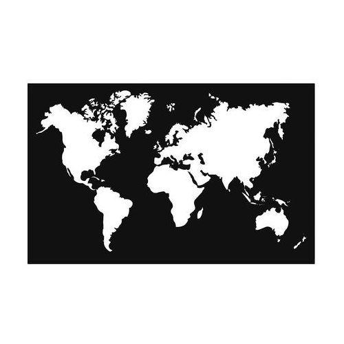 Metalowa dekoracja ścienna Mapa mała