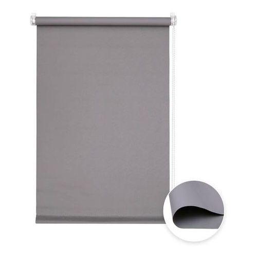 Victoria-m Roleta materiałowa bezinwazyjna, przyciemniająca, gotowa, basic, szara, 65x150cm