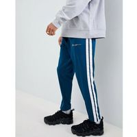 Mennace Skinny Joggers With Taping In Teal - Green