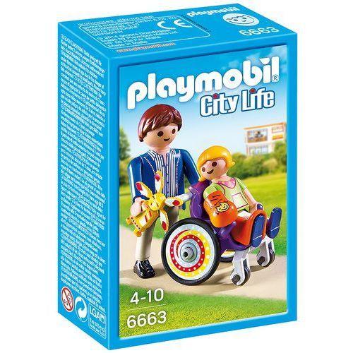 Playmobil CITY LIFE Dziecko na wózku inwalidzkim 6663