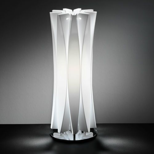 Slamp BACH lampa stołowa Biały, 1-punktowy - Nowoczesny - Obszar wewnętrzny - BACH - Czas dostawy: od 8-12 dni roboczych, BAC42TAV0001W
