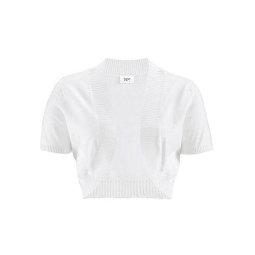 Bolerko bonprix biały, kolor biały