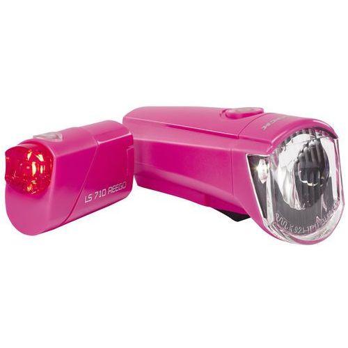 Trelock LS350 I-go Sport + LS710 Reego Zestaw oświetlenia różowy Lampki na baterie - zestawy (4016167043084)