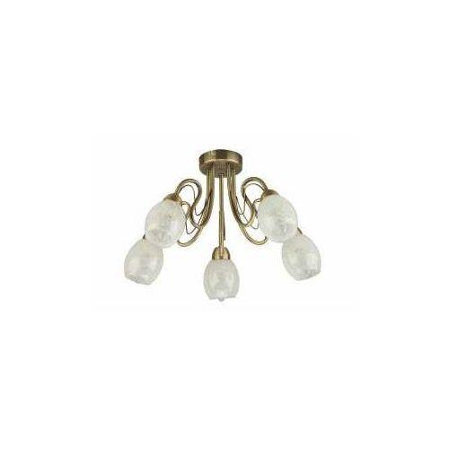 Krislamp Mona Kr 318-5Pl lampa wisząca zwis 1X40W E14 patyna