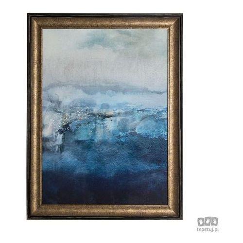 Obraz w ramie niebieska abstrakcja 101550 marki Graham&brown