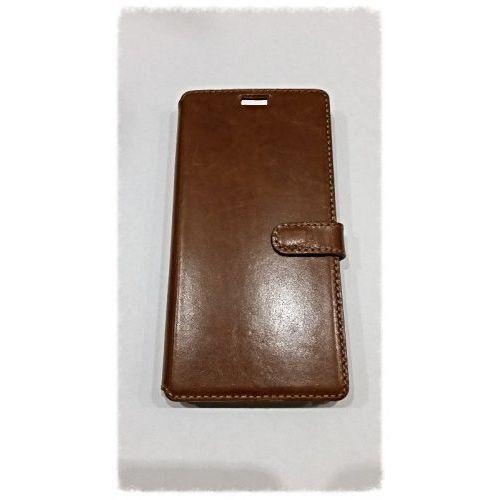 LEATHER SONY XPERIA M4 AQUA BROWN BOOK CASE - produkt z kategorii- Futerały i pokrowce do telefonów