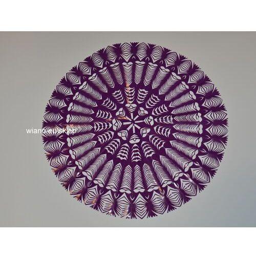 Twórczyni ludowa Wycinanka ludowa, kurpiowska, gwiazda, śred. 34 cm, kolor fioletowy (czk-2)
