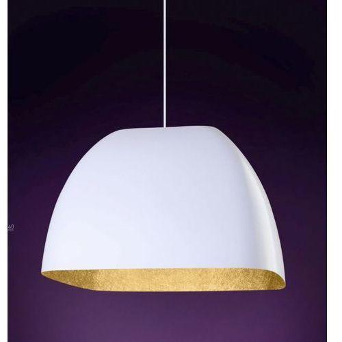 Sigma Lampa wisząca  alwa m biała złota wewnątrz (5902335262748)