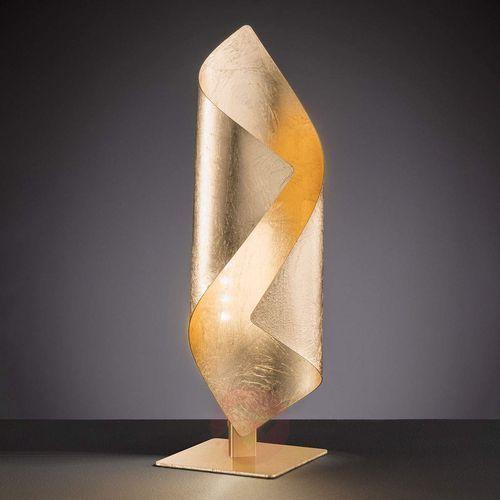 Safira - lampa stołowa led, lśniący złoty kolor marki Wofi