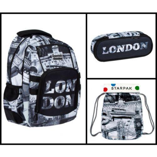 Zestaw szkolny LONDON 3 el. (plecak, piórnik, worek).