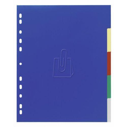Przekładki Durable Varicolor do segregatora A4 5-kolorowe 6743-27, 55860