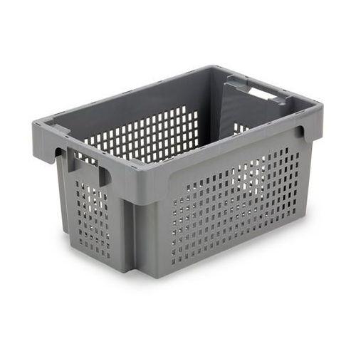 Werit kunststoffwerke Obrotowy pojemnik do ustawiania w stos z hdpe, poj. 60 l, ścianki i dno perforow