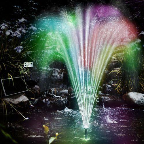 Wideshop Pompa do oczka wodnego solarna+fontanna led (4250525320671)