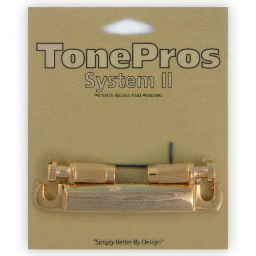Tonepros t7z-g - tailpiece, 7-strun, części mostka do gitary, złote