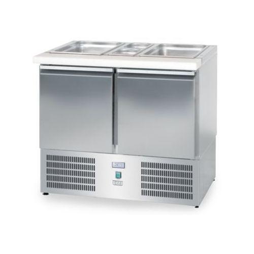 Lada sałatkowa chłodnicza, 2-drzwiowa, 950x700x850 mm | DORA METAL, DM-94041