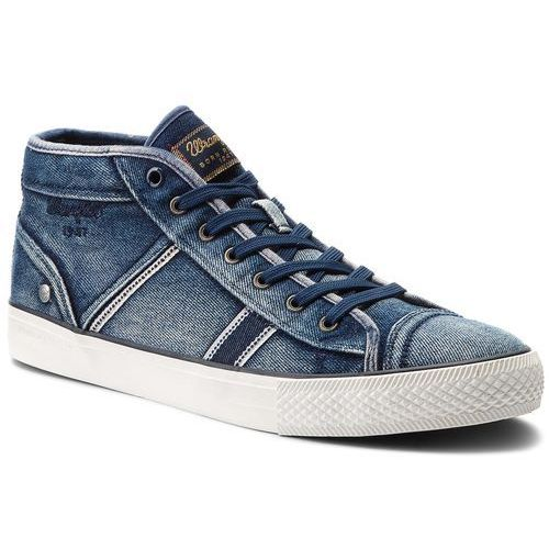 Sneakersy - starry mid denim wf08626nt blue/denim 284, Wrangler, 40-41