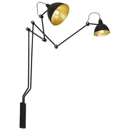 Lampa oprawa ścienna kinkiet Aldex Bibi 2x60W E27 czarna 843D >>> RABATUJEMY do 20% KAŻDE zamówienie!!! (5904798639273)