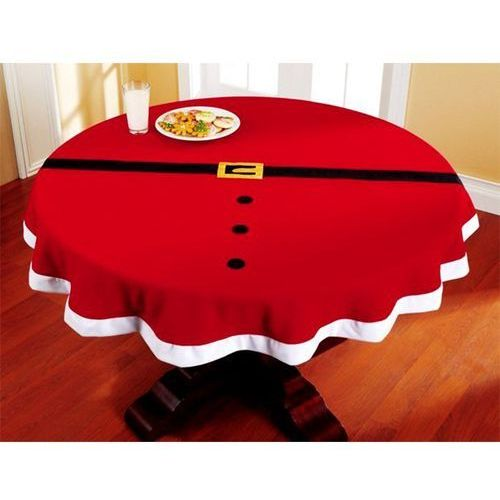 Okrągły obrus świąteczny Pas Mikołaja na Boże Narodzenie - cm - 1 szt. (5902557254552)