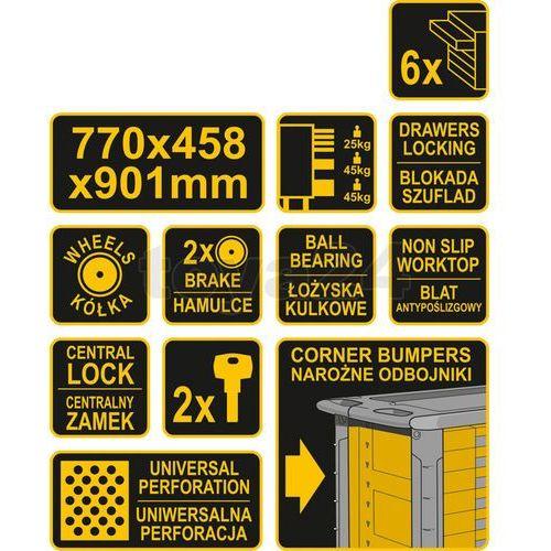 Vorel Szafka serwisowa 6 szuflad 58539 - zyskaj rabat 30 zł (5906083585395)